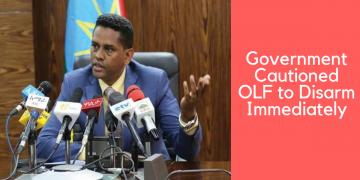 Government Cautioned OLF to Disarm Immediately (1)