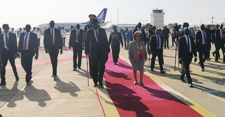 Newly Elected President Sahlework Arrives in Juba