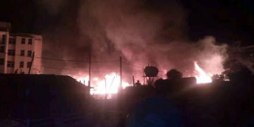 Fire in Bahir Dar Cause Property Damage