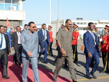 Abiy and Isaias Arrives in South Sudan