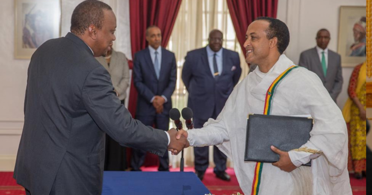 Ambassador Melese Alem Submitted his Credentials to Uhuru Kenyatta