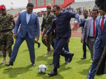 Abiy, Lemma Inaugurate Wollega Stadium in Nekemt