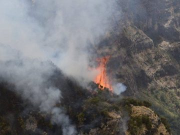 Semen Mountains Forest Fire Still Burning