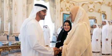 Keria Ibrahim Meet Mohamed bin Zayed in Abu Dhabi