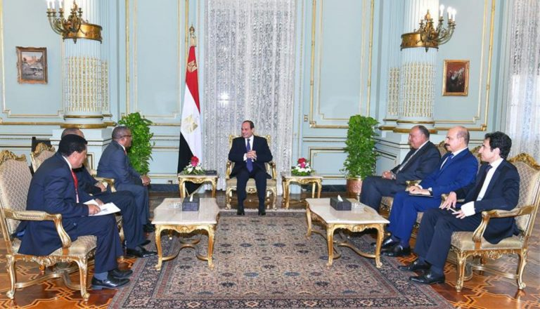 FM Gedu Meet With Abdel Fattah al-Sisi of Egypt