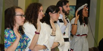 23 New Peace Corps Volunteers Sworn in at U.S. Embassy