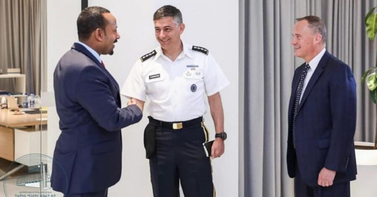 AFRICOM Commander Meets with Ethiopian Prime Minister Abiy Ahmed and Ethiopian Military Leaders