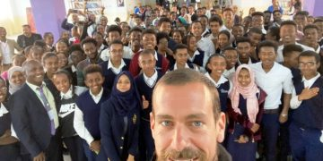 Twitter CEO Jack Dorsey in Addis Ababa
