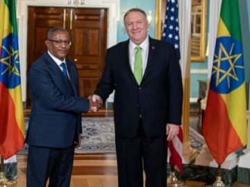FM Gedu Meets with Secretary Pompeo