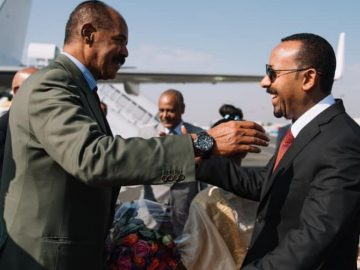 Isaias arrives in Addis Ababa for official visit