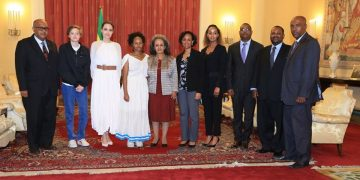 Angelina Jolie meet with President Sahle Work Zewde