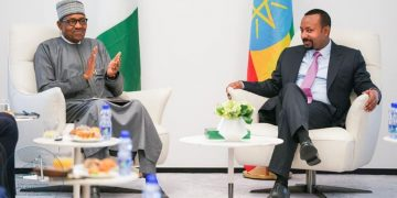 PM Abiy Ahmed, discuss with President Muhammadu Buhari of Nigeria